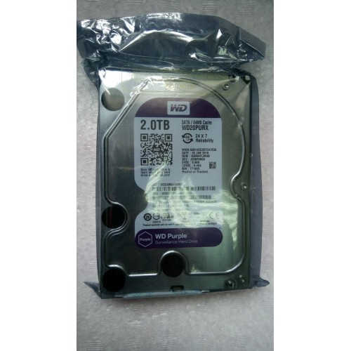 WD 3.5 2TB Purple Sata HDD